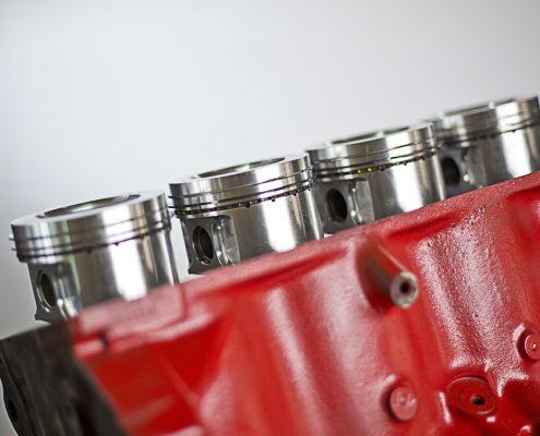 Motor mit Schmiedekolben
